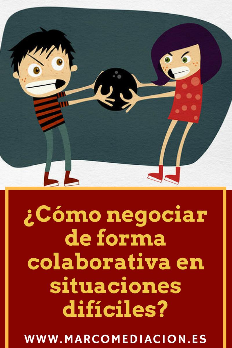 ¿Cómo negociar de forma colaborativa en situaciones difíciles?